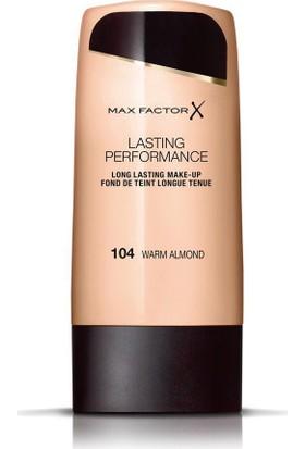 Max Factor Lasting Performance İz Bırakmayan Sıvı Fondöten 104 Warm Almond