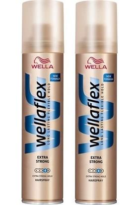 Wellaflex Şekillendirici Saç Spreyi Ekstra Güçlü 75 ml x2 adet