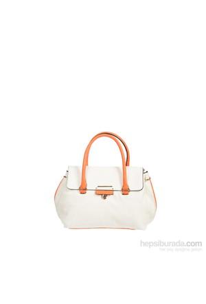 Gnc Bag Kadın Çanta Beyaz Turuncu Gnc0104-0026
