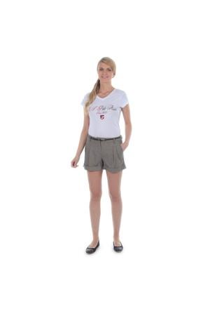 U.S. Polo Assn. Kadın Kahverengi Şort