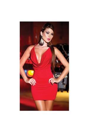 Merry See Sırtı Metal Aksesuarlı Kırmızı Mini Ebise