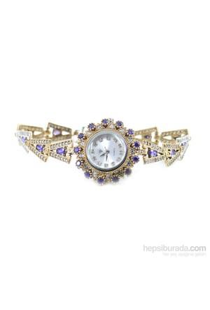 Dhamany Mor Yıldız Bayan Gümüş Saat