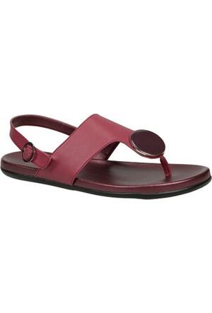Ceyo Kadın Sandalet Bordo 9833-29