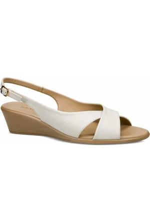 Ceyo Kadın Sandalet Beyaz 9887-2