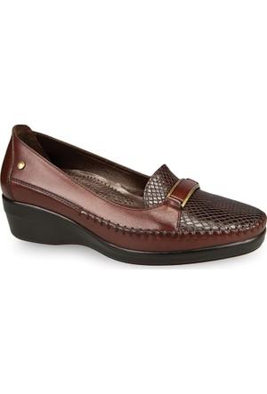 Ceyo Kadın Ayakkabı Kahverengi 9920-1