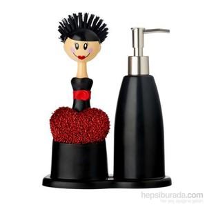 vıgar dolls bulaşık seti kırmızı sabunluklu