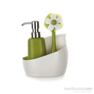 vıgar flor sıvı sabunluk fırça seti 4 parça askılı