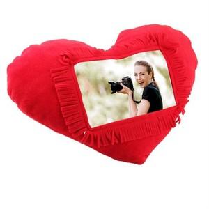 uygun kalp şeklinde yastık fotoğraf çerçeveli