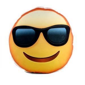 uygun gözlüklü gülen surat emoji smiley yastık