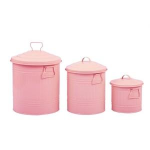 fidex home 3lü çöp kova set-pembe