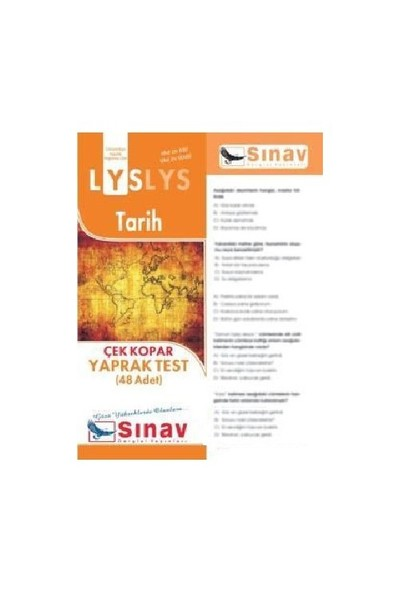 Sınav Dergisi Yayınları Lys 2016 Tarih Yaprak Test (48 Test)-Kolektif