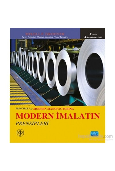 Modern İmalatın Prensipleri - Principles Of Modern Manufacturing - Johnwiley