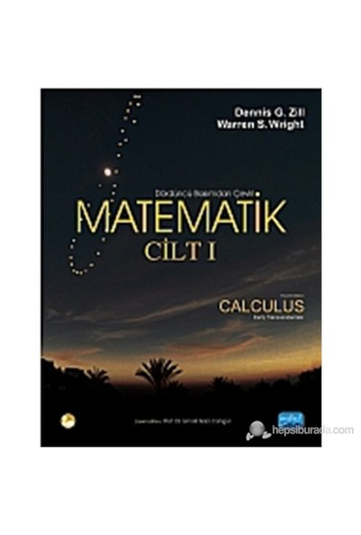 Matematik (Cilt 1) (Calculus Early Transcendentals) - Warren S. Wright