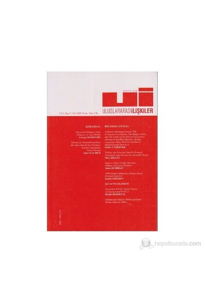 Uluslararası İlişkiler Dergisi Sayı: 7