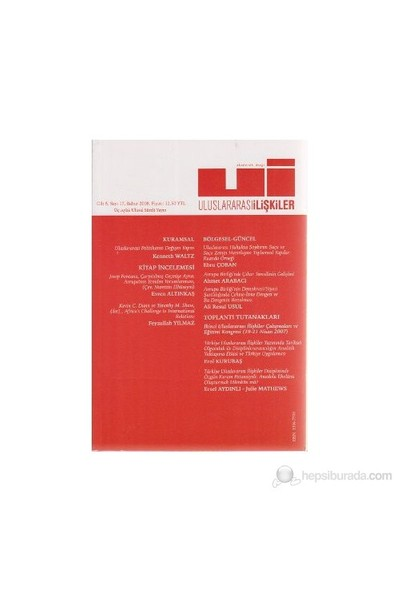 Uluslararası İlişkiler Dergisi Sayı: 17