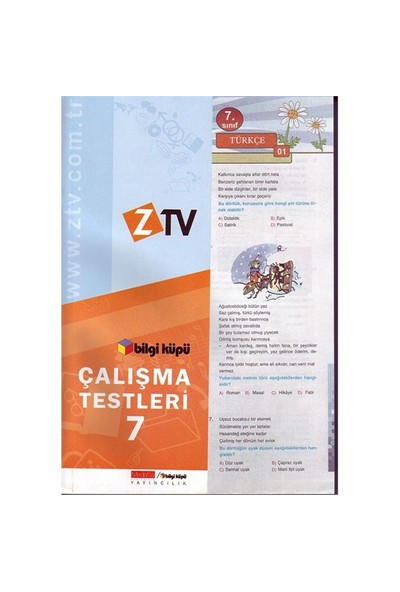Ztv Bilgi Küpü Sbs 7. Sınıf Çalışma Testleri-Mustafa Çeker
