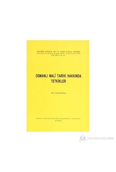 Osmanlı Mali Tarihi Hakkında Tetkikler-Ziya Karamursal
