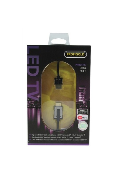 Profigold PROL1213 HDMI - HDMI 3m Ethernet High Speed Altın Kaplama Kablo