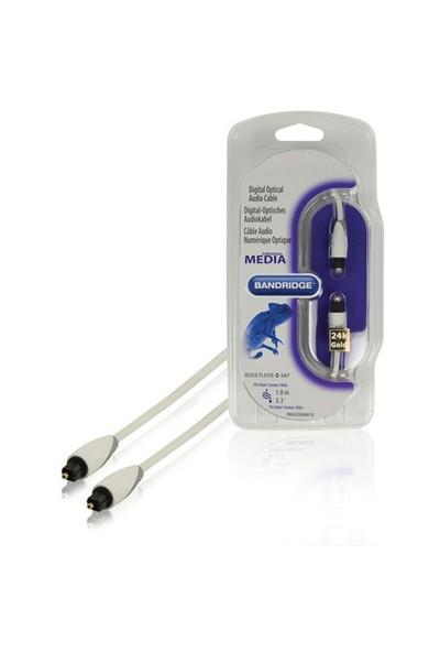 Bandridge BBM25000W10 Toslink - Toslink 1m Dijital Optik Altın Kaplama Kablo