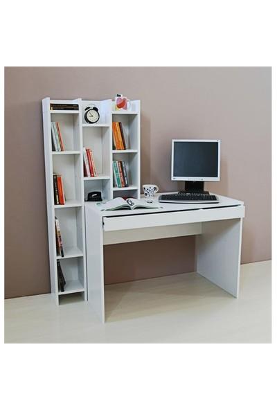 Hepsi Home Activa Kitaplıklı Çalışma Masası - Beyaz