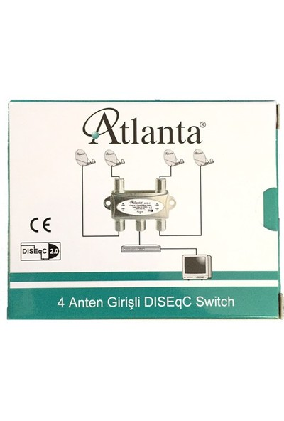 Atlanta 1x4 DiSEqC Switch (4 Çanak 1 Cihaz)