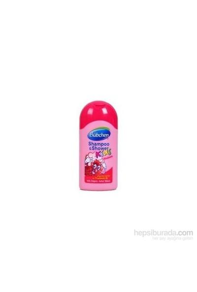 Bübchen Çocuk Şampuan Ve Duş Jeli Frambuazlı 50Ml (Seyahat Boyu)
