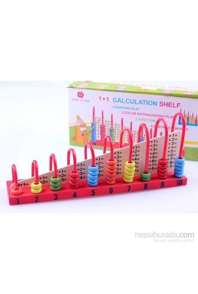 Learning Toys Wooden 1+1 Calculation Shelf