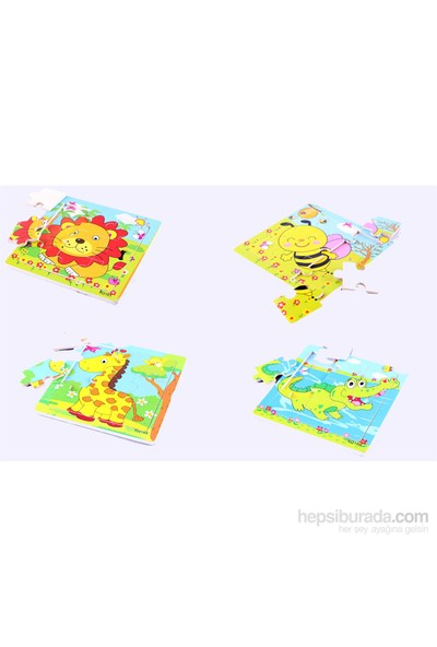 Learning Toys 4'lü Wooden Puzzle Set Paketi
