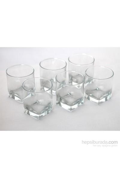 Paşabahçe Carre Viski Bardağı 6'Lı