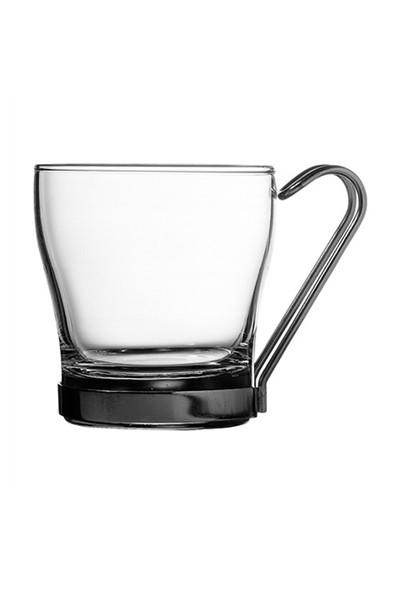 Paşabahçe Krom Kulplu 2.Li Çay& Kahve Bardağı Set