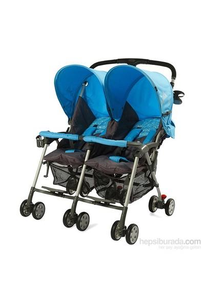 Sunny Baby Flamingo İkiz Bebek Arabası Mavi