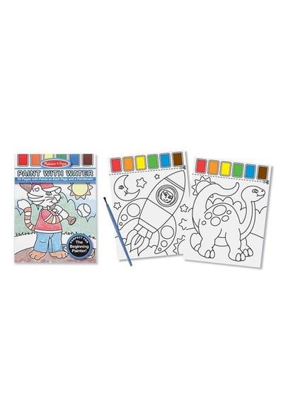 Melissa&Doug Sulu Boyalı Boyama Kitabı - Mavi