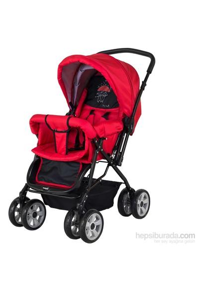 Crystal Baby 212 Mega Bebek Arabası - Kırmızı