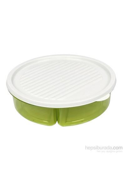 Bager Smart 3 Bölmeli Saklama Kabı - Yeşil