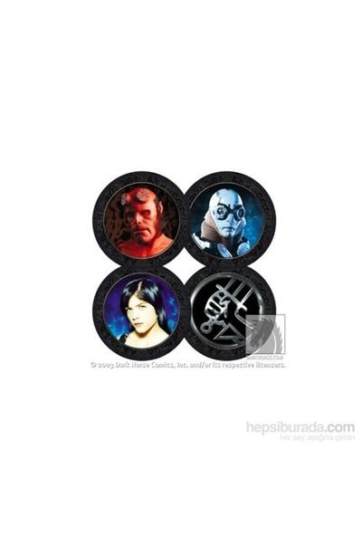Hellboy Movie Photo Coaster Set Bardak Altlığı