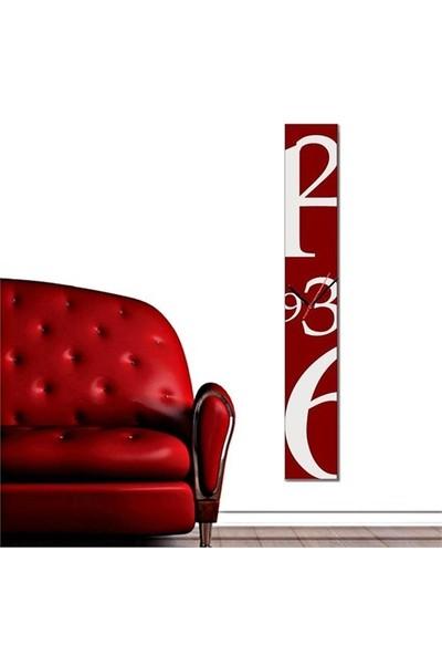 Decobritish Dekoratif Kanvas 100 Cm Duvar Saati - Kırmızı