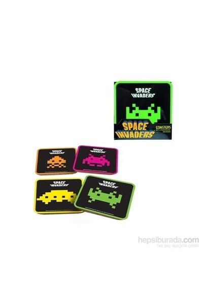 Space Invaders Coasters Set Bardak Altlığı