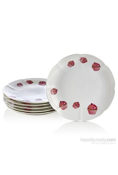 Noble Life Cupcake 6Lı Pasta Tabağı - 22647