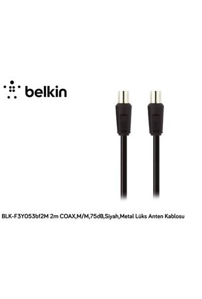 Belkin Blk-F3y053bf2m 2M Coax,M/M,75Db,Siyah,Metal Lüks Anten Kablosu