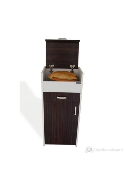 Ekmek Dolabı Abanoz-Beyaz
