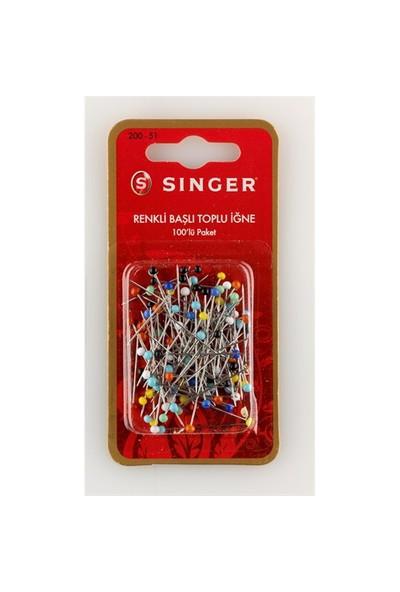 Singer 200-51 Renkli Başlı Toplu İğne