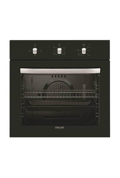 Oscar 7255 Siyah Ankastre Fırın 0+3 Fonksiyon Statik Siyah Panel Fırın