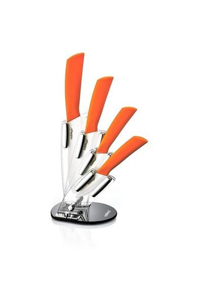 Noble Life Seramik Bıçak Seti - Bs 521 - Turuncu - 12853