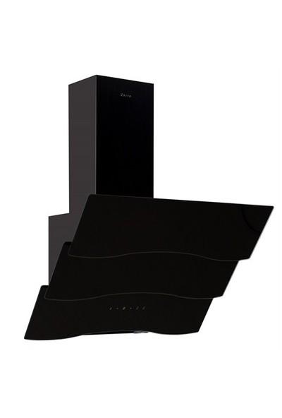 Ferre D023 Siyah Dekoratif Camlı Davlumbaz