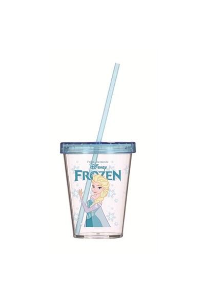 Cosıness Frozen Lisanslı Pipetli Bardak 450 Cc