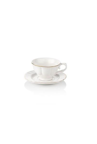 Noble Life Gold Rolyef Kahve Fincan Seti 6 Kişilik - 15908