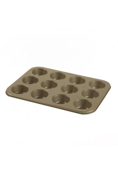 Essenso Bw 12'li Amber Çikolata ve Muffin Kalıbı 35x26 Cm