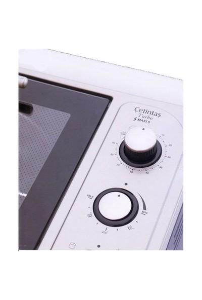 Çetintaş SMXF5 Maxi Fırın 45 Litre Beyaz