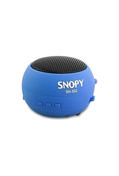 Snopy SN-302 Mavi Micro SD Hamburger Mini Ses Bombası