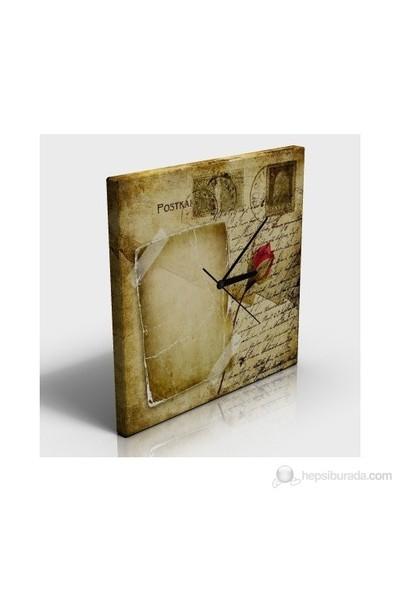 Kırmızı Gül Kanvas Tablo Saat